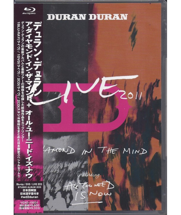 DURAN DURAN - LIVE 2011 (A DIAMOND IN THE MIND INCLUDING ALL YOU NEED IS NOW )(BOX SET CD + BLY-RAY JAPAN)