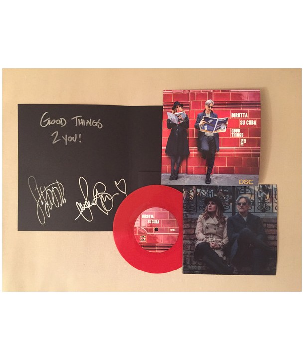 "DIROTTA SU CUBA - GOOD THINGS ( DELUXE SIGNED 7"" RED VINYL )"