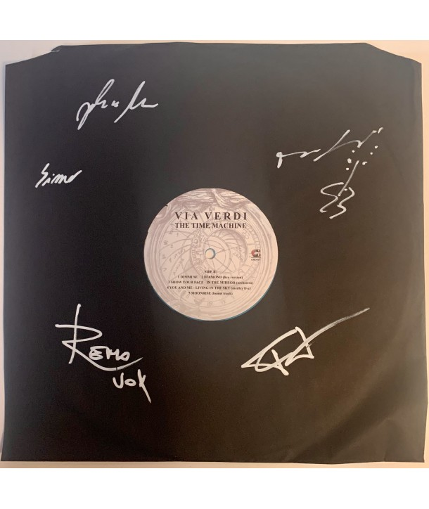 VIA VERDI - THE TIME MACHINE ( LP VINILE BLU AUTOGRAFATO MISPRESS )